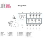 Stage Plot for St. Lucie Tropical Jazz Band